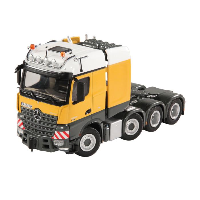 【予約】メルセデスベンツアクトロス Big Space SL T Yellow /NZG 建設機械模型 工事車両 1/50 ミニチュア