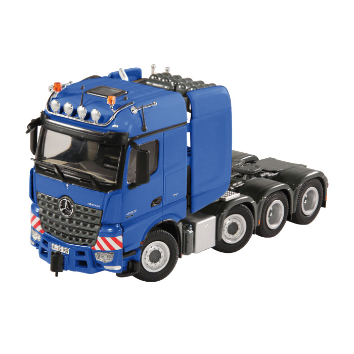 【予約】MB Actrosメルセデスベンツアクトロス Big Space SLT ブルー トラック トラクタヘッド /NZG 建設機械模型 工事車両 1/50 ミニチュア