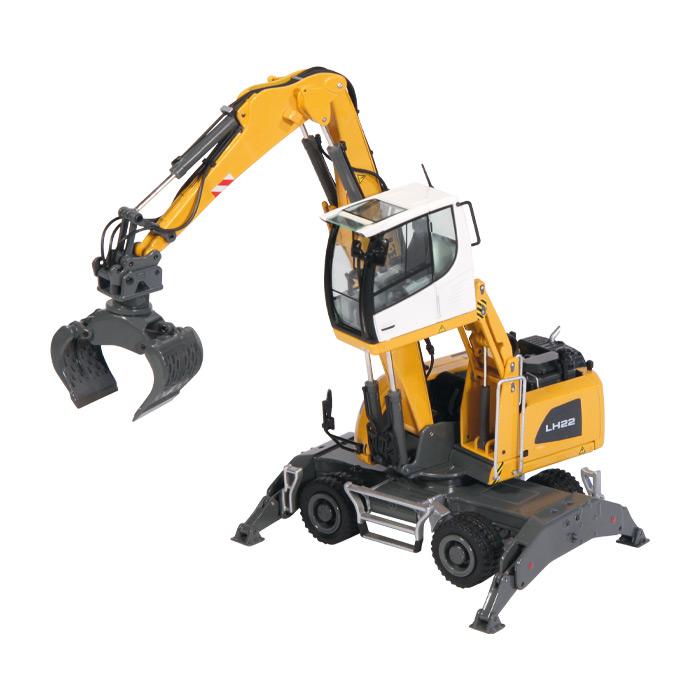 【予約】10-12月以降発売予定LIEBHERRリープヘル LH 22 M Litronicショベル 建設機械模型 工事車両NZG 1/50 ミニチュア
