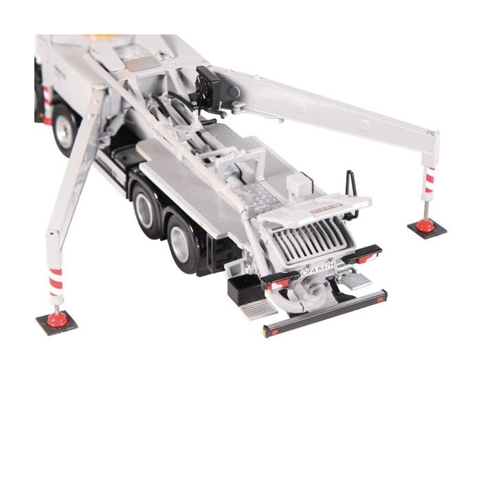 CIFA K47H メルセデス・ベンツアクトロス 8X4トラック コンクリートポンプ車  /建設機械模型 工事車両 NZG 1/50 ミニチュア