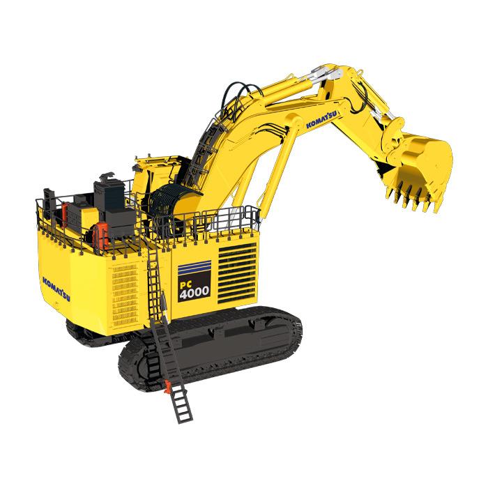 ミニチュア模型ミニカー KOMATSUコマツ PC4000 backhoeショベル 建設機械模型 工事車両NZG 1/50 ミニチュア