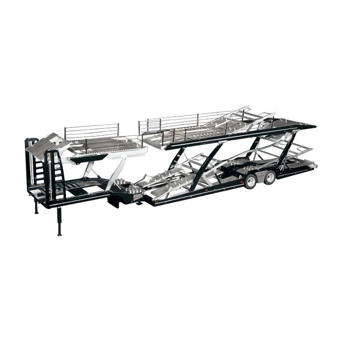 LOHR car Transporter積載車キャリアカートレーラー / メルセデス・ベンツアクトロス 建設機械模型 工事車両NZG 1/18 ミニチュア