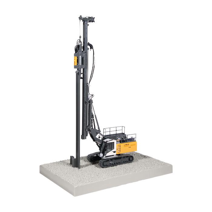 【予約】10-12月以降発売予定LIEBHERRリープヘル LRB 18 piling and drilling rig 掘削機 建設機械模型 工事車両NZG 1/50 ミニチュア