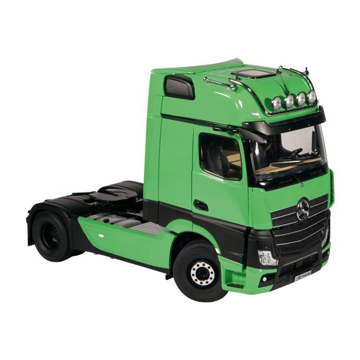 MERCEDES BENZ ACTROSメルセデスベンツアクトロス GIGASPACE 4X2 グリーントラクタヘッドトラック建設機械模型 工事車両 NZG 1 18 ミニチュアthrQsd