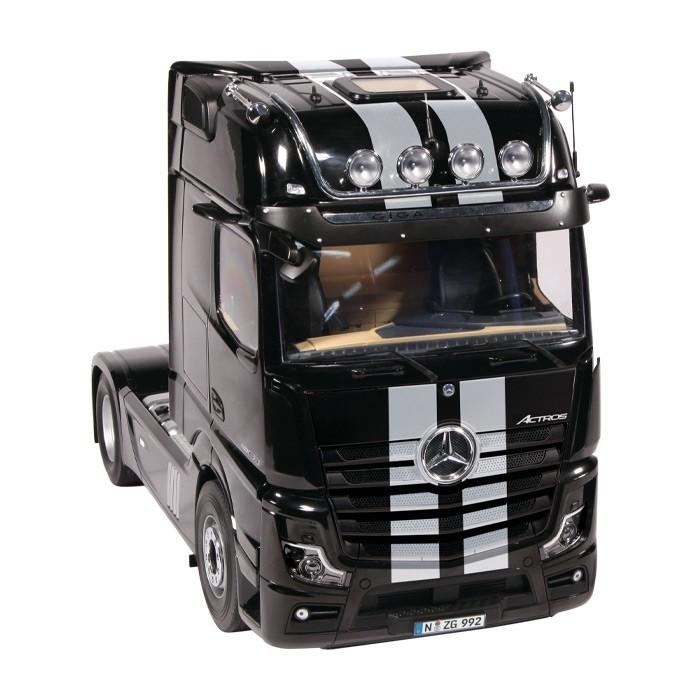 【予約】10-12月以降発売予定メルセデス・ベンツアクトロス 4x2 GigaSpace トラック トラクタ ブラック ストライプ 建設機械模型 工事車両NZG 1/18 ミニチュア