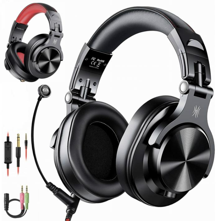 日本限定 DJ モニターヘッドホン OneOdio 大好評です A71 DJ用 有線 ヘッドセット ヘッドホン PC用 人気 着脱マイク