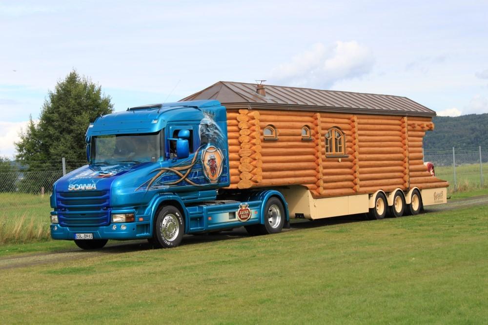 【予約】2017年5-7月以降発売予定Niedergesaess Scaniaスカニア T-serie with log cabin (without Porsche tractor) トラック Teknoテクノ 建設機械模型 工事車両 1/50 ミニチュア