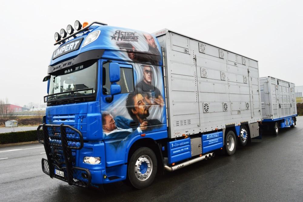 【予約】2017年6-8月以降発売予定Limpert DAF XF105 Super Space Cab livestock combi トラック Teknoテクノ 建設機械模型 工事車両 1/50 ミニチュア