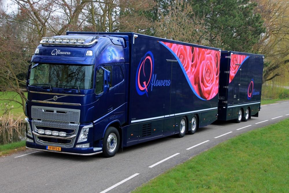 【予約】2017年5-7月以降発売予定Qflowers Volvo FH04 Globetrotter XL rigid truck トレーラー  Teknoテクノ 建設機械模型 工事車両 1/50 ミニチュア