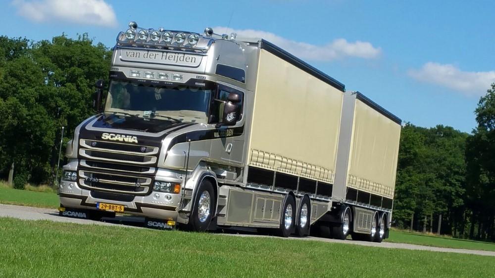 【予約】2017年10-12月以降発売予定Heijden, van der Scaniaスカニア T6 Topline rigid truck with カーテンサイダートレーラー  Teknoテクノ 建設機械模型 工事車両 1/50 ミニチュア