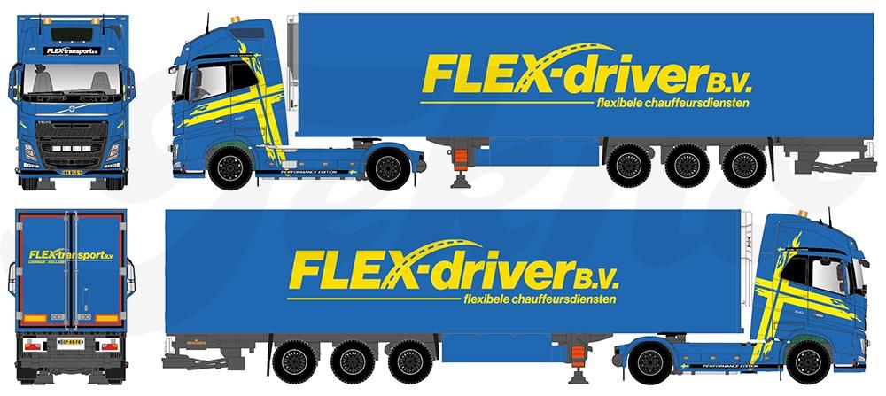 ミニチュア模型ミニカー 【予約】2017年8-10月以降発売予定Flex driver Volvo FH04 Globetrotter XL リーファー セミトレーラートラック Teknoテクノ 建設機械模型 工事車両 1/50 ミニチュア