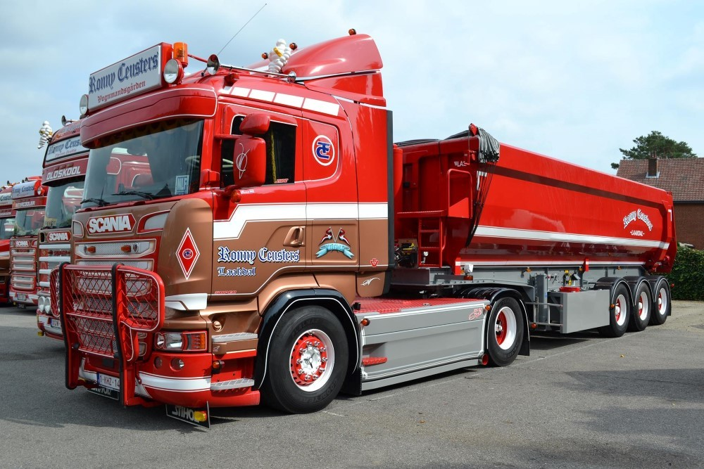 【予約】2017年10-12月以降発売予定Ceusters, Ronny Scaniaスカニア R-Streamline Lowline 3軸 tipper trailer トラック Teknoテクノ 建設機械模型 工事車両 1/50 ミニチュア
