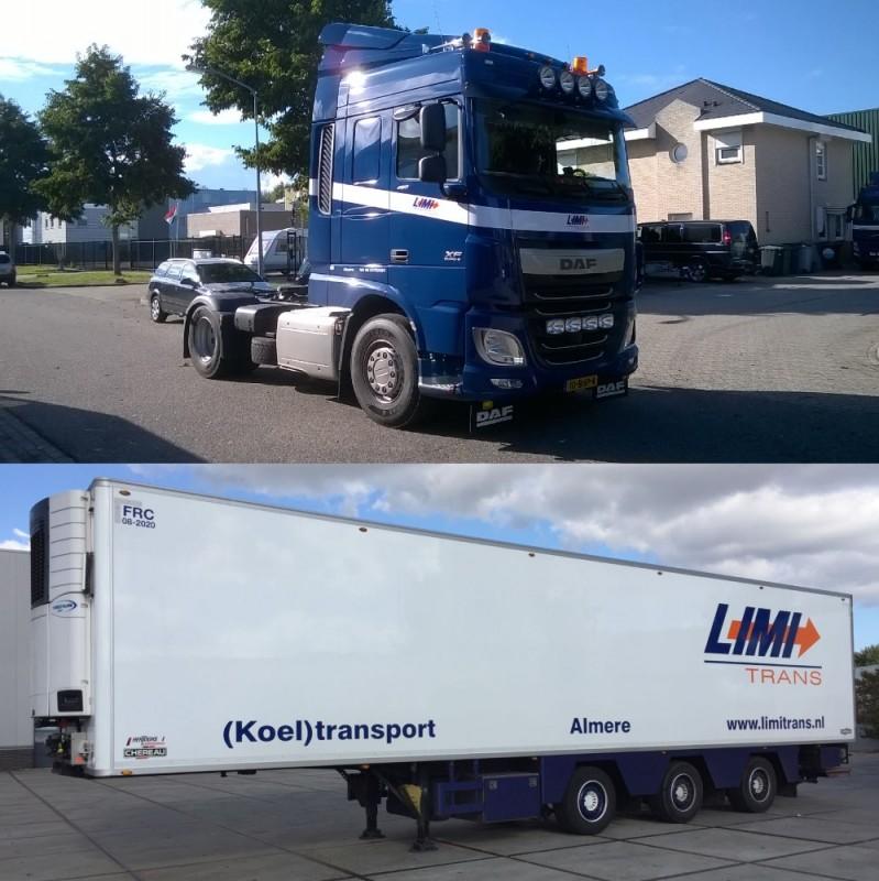 【予約】2017年8-10月以降発売予定LIMI Trans Daf XF euro6 spacecab 4x2 リーファー セミトレーラー Teknoテクノ 建設機械模型 工事車両 1/50 ミニチュア