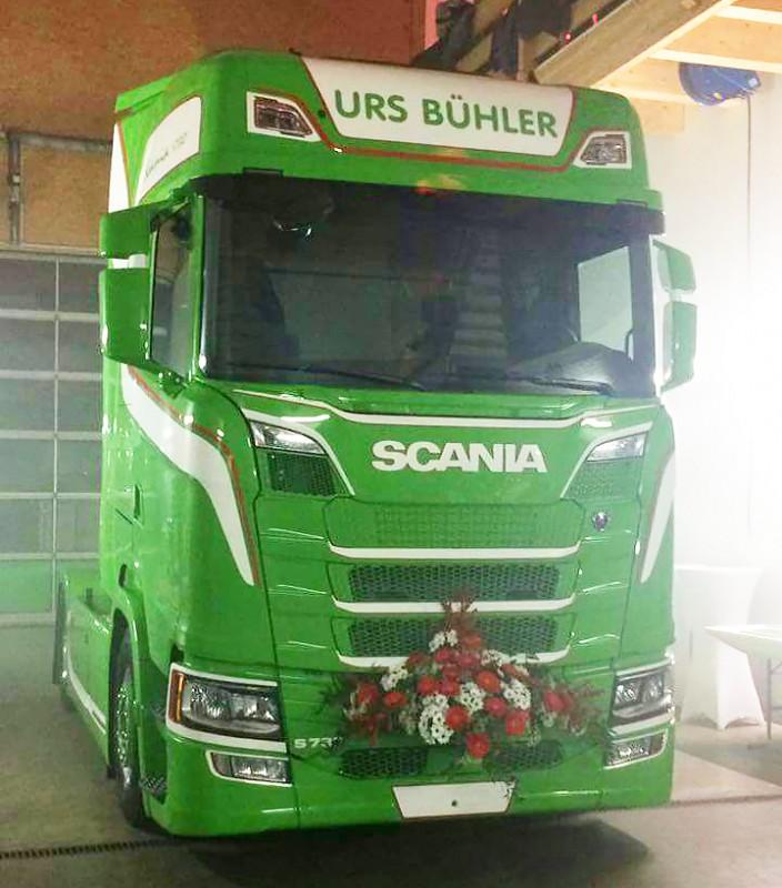 【予約】2017年8-10月以降発売予定Buhler, Urs Scaniaスカニア S730 with Cargo floor trailer トラック トラクタヘッド Teknoテクノ 建設機械模型 工事車両 1/50 ミニチュア