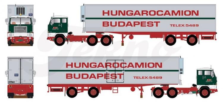 【予約】10-12月以降発売予定Hungarocamion Volvo F88 2軸 reefer semitrailerトラック/建設機械模型 工事車両 Tekno 1/50 ミニチュア