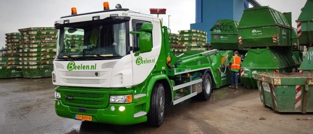 【予約】4-6月以降発売予定Beelen Scaniaスカニア P-serie 4x2 skip loaderトラック 建設機械模型 工事車両 TEKNO 1/50 ミニチュア