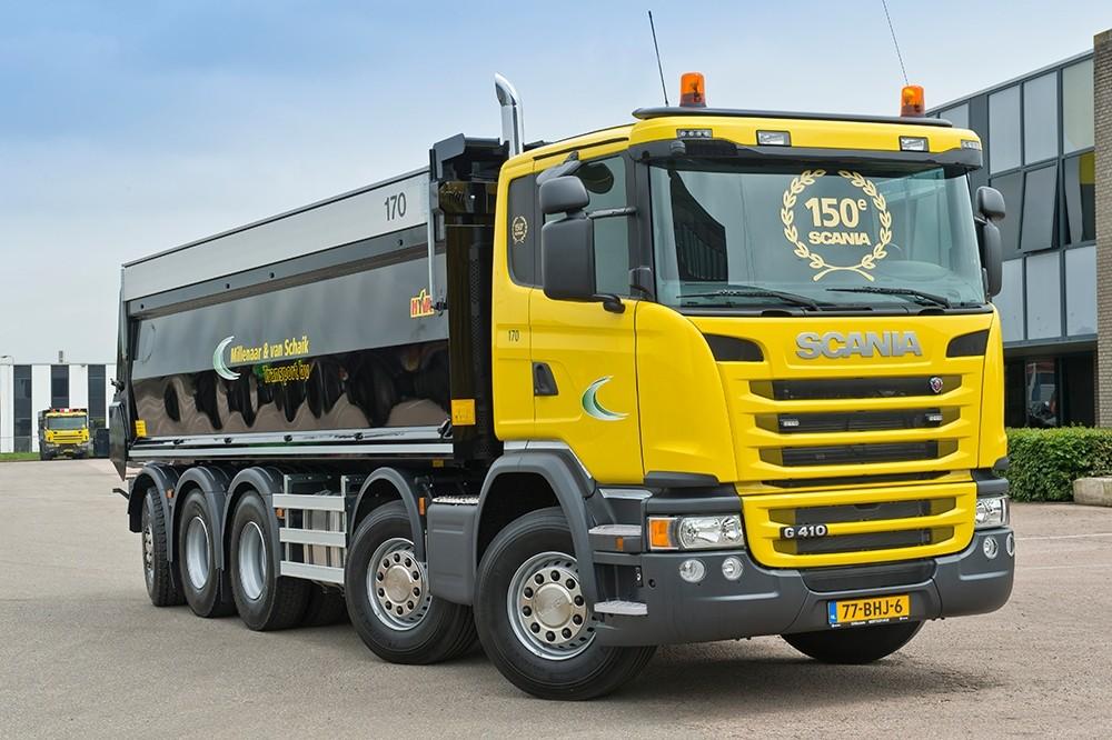 【予約】4-6月以降発売予定Millenaar & van Schaik Scaniaスカニア G-serie tipper with 5 axleトラック 建設機械模型 工事車両 TEKNO 1/50 ミニチュア