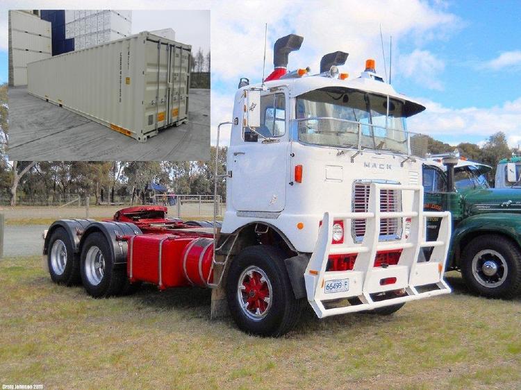 【予約】2019年7-9月以降発売予定Mack F700 6x4 with flat trailer and classic 40フィートコンテナトラクタ /建設機械模型 工事車両 TEKNO 1/50 ミニチュア