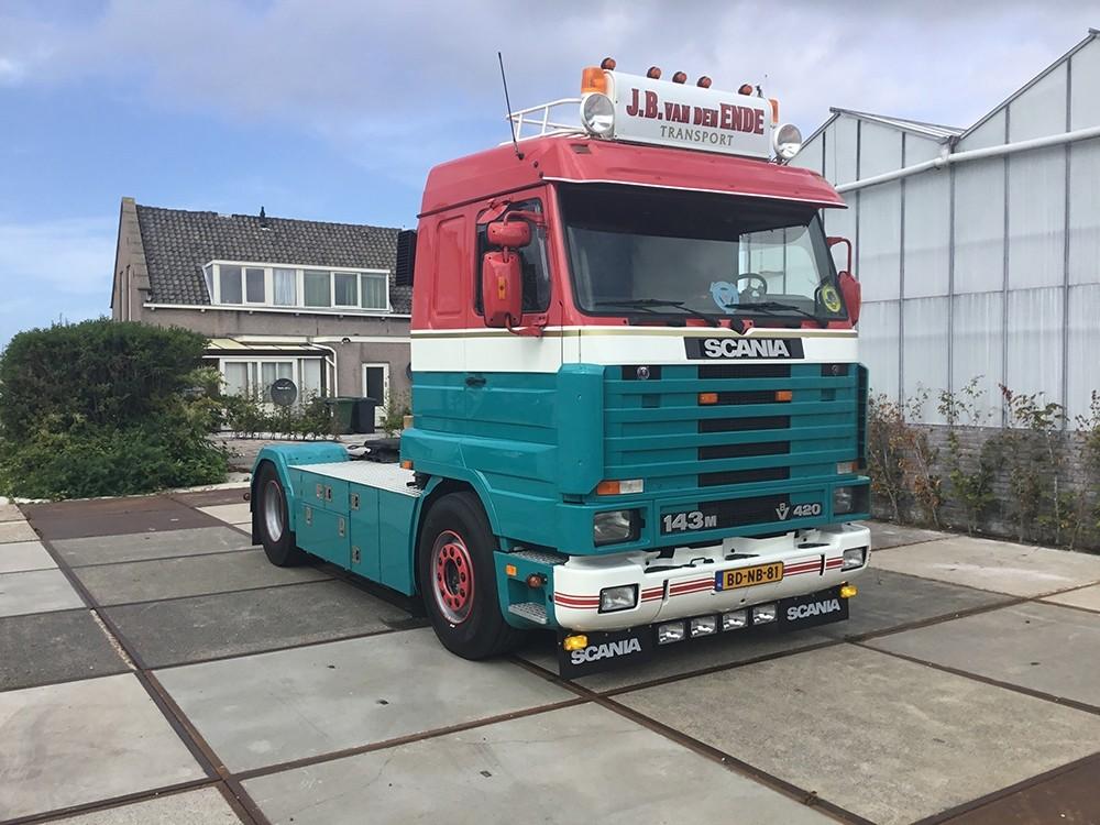 【予約】4-6月以降発売予定Ende, J.B. van den Scaniaスカニア 143 Streamline tractorトラクタ 建設機械模型 工事車両 TEKNO 1/50 ミニチュア