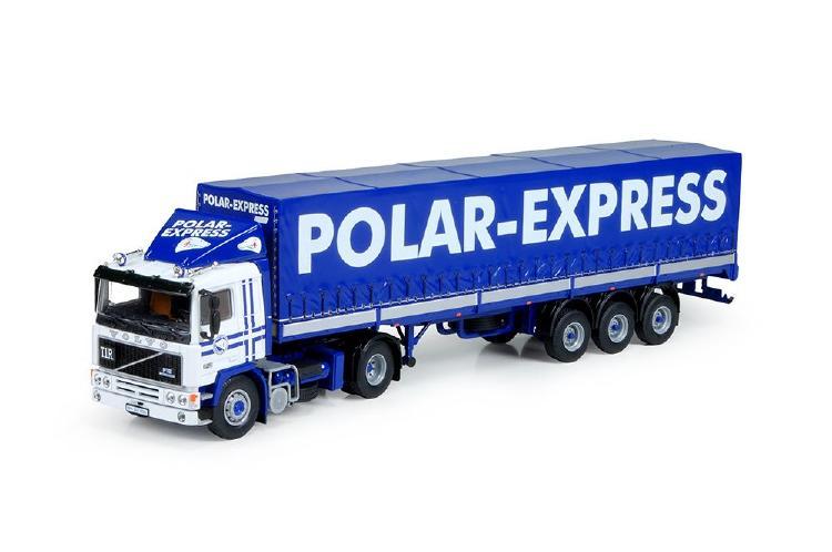 Polar Express Volvo F12 with Classic tilt semitrailerトラック 建設機械模型 工事車両 TEKNO 1/50 ミニチュア