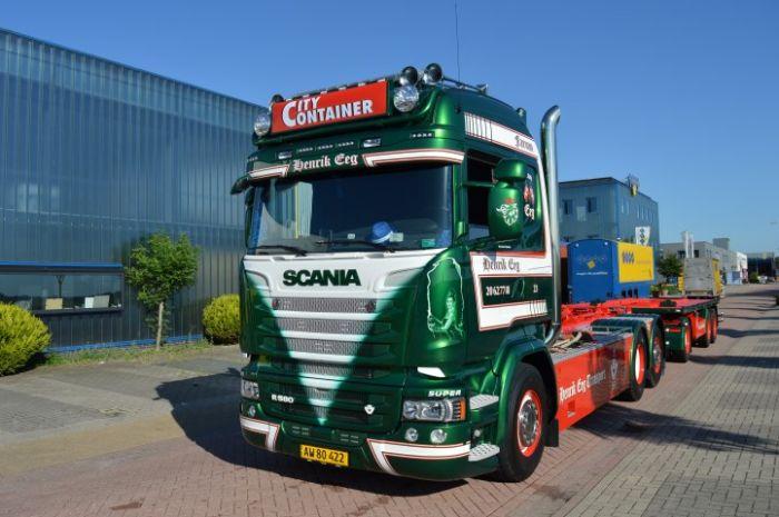 【予約】12月以降発売予定Eeg, Henrik Scania R-serie rigid truck with hookarm container トラック トレーラー 建設機械模型 工事車両TEKNO 1/50 ミニチュア
