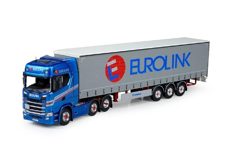 【予約】4-6月以降発売予定Eurolink Scaniaスカニア S-serie Highline avec semi-remorque avec rideaux coulissantesトラック 建設機械模型 工事車両 TEKNO 1/50 ミニチュア