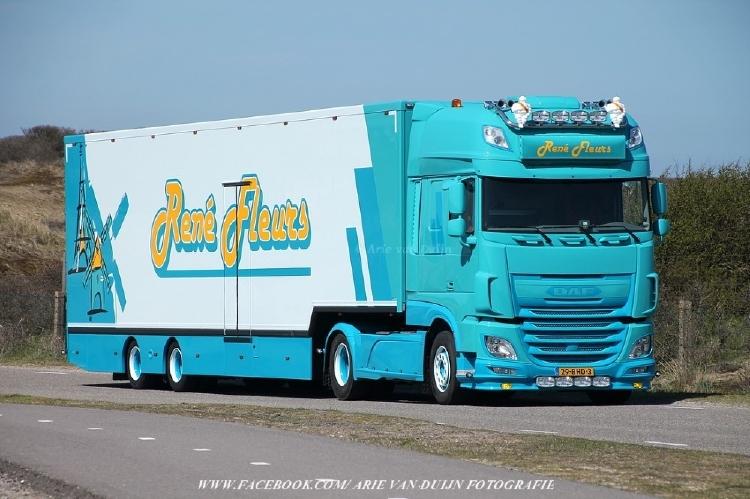 【予約】10-12月以降発売予定Fleurs, Rene DAF XF euro 6 with Goosneck リーファーセミトレーラートラック 建設機械模型 工事車両TEKNO 1/50 ミニチュア