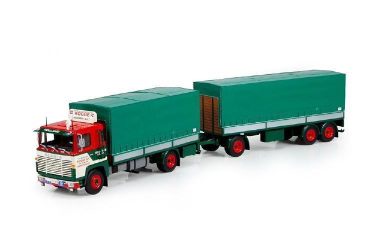 【予約】10-12月以降発売予定Kogge Scaniaスカニア 110 Super rigid truck with trailerトラック 建設機械模型 工事車両TEKNO 1/50 ミニチュア