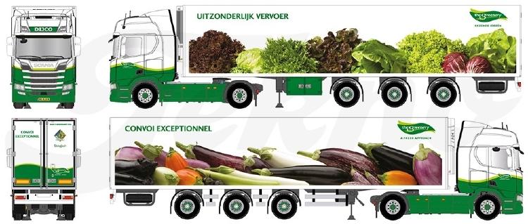 【予約】10-12月以降発売予定Greenery Sla en aubergine Scaniaスカニア NGS R450 Highline avec 3軸 widespread semi-remorque frigoトラック 建設機械模型 工事車両TEKNO 1/50 ミニチュア