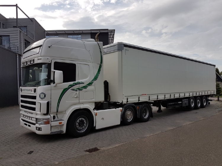 【予約】10-12月以降発売予定Prins Transport Scaniaスカニア 4-serie Topline カーテンサイダーセミトレーラートレーラー 建設機械模型 工事車両TEKNO 1/50 ミニチュア