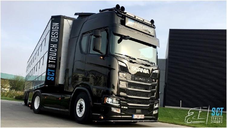 【予約】2019年8-10月以降発売予定Sucatrans Scania S-serie resin livestock trailer トラック /建設機械模型 工事車両 TEKNO 1/50 ミニチュア