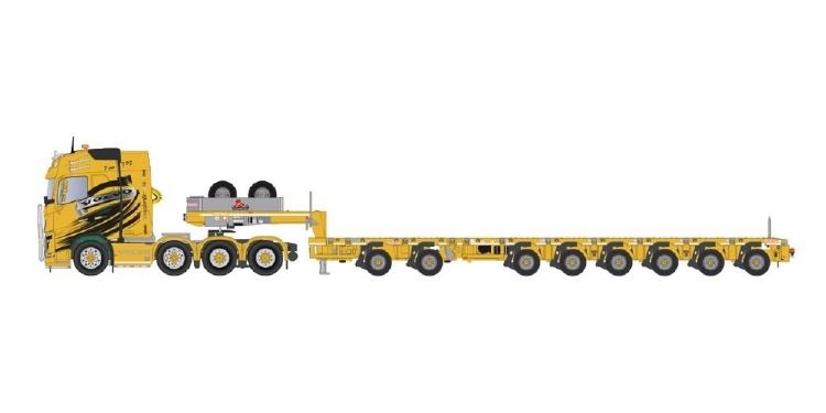 【予約】10-12月以降発売予定Pierre Sarhy TPS Transports TPS Pierre Sarhy Volvo FH04 Globe 8x4 + ノーテブーム MCO-PX semi low loader 2+6トレーラー 建設機械模型 工事車両TEKNO 1/50 ミニチュア