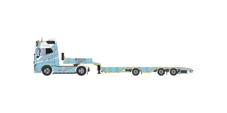 【予約】10-12月以降発売予定Cepelludo Volvo FH04 Globetrotter 4x2 + ノーテブーム OSDS44-03 WEB semi low loaderトレーラー 建設機械模型 工事車両TEKNO 1/50 ミニチュア
