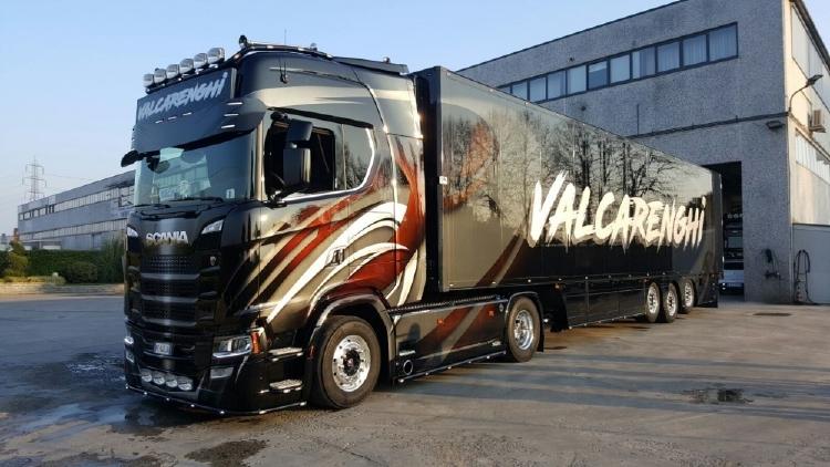【予約】10-12月以降発売予定Valcarenghi, Bruno Scaniaスカニア NGS S-serie with zamac リーファーセミトレーラートラック 建設機械模型 工事車両TEKNO 1/50 ミニチュア