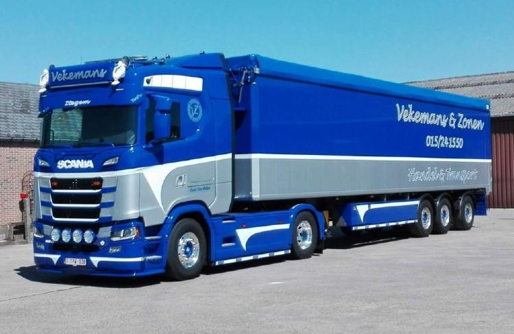 【予約】10-12月以降発売予定Vekemans Scania S-serie Highline with Cargo floor trailer widespreadトラック/建設機械模型 工事車両 Tekno 1/50 ミニチュア
