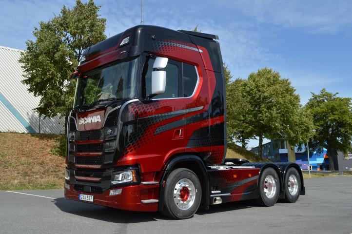 【予約】2019年8-10月以降発売予定Scania Mjolby Phoenix Scania S-serie Highline 6x2 トラック トラクタ/建設機械模型 工事車両 TEKNO 1/50 ミニチュア