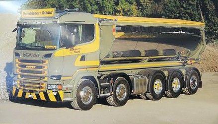 【予約】10-12月以降発売予定Dornbierer Scania R-serie asphalt tipper トラック /建設機械模型 工事車両 TEKNO 1/50 ミニチュア