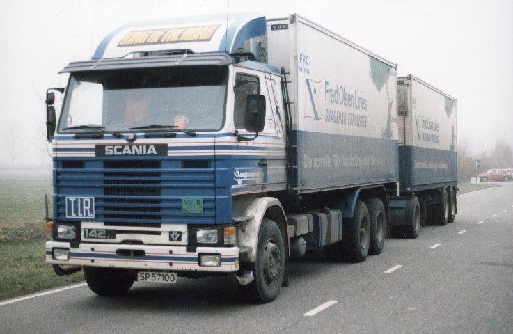 【予約】12月以降発売予定Langtransport Scania 142 rigid truck with trailer トラック 建設機械模型 工事車両TEKNO 1/50 ミニチュア