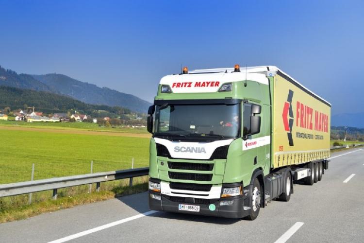 【予約】10-12月以降発売予定Mayer, Fritz Scania NGS R-serie Highline with curtainside semitrailerトラック/建設機械模型 工事車両 Tekno 1/50 ミニチュア