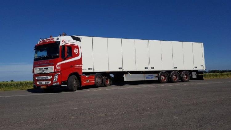 【予約】10-12月以降発売予定Verboon Transport De Lier Volvo FH04 Globetrotter met Ekeri koeloplegger トレーラー/建設機械模型 工事車両 TEKNO 1/50 ミニチュア
