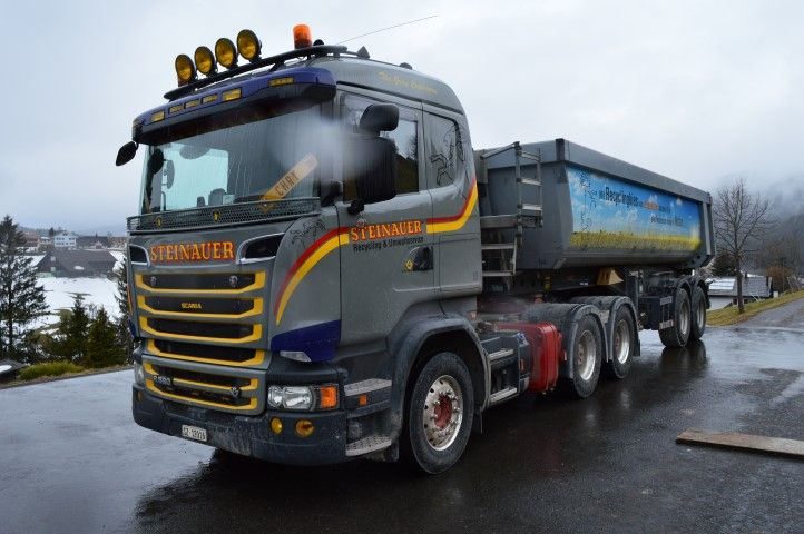 【予約】12月以降発売予定Steinauer Scania R-serie met 2 assige Meiller kipopleggerダンプ トラック 建設機械模型 工事車両TEKNO 1/50 ミニチュア
