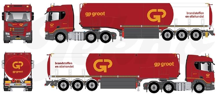 【予約】2020年4-6月以降発売予定Mod 175118B+ / GP Groot トラック /建設機械模型 工事車両 Tekno 1/50 ミニチュア
