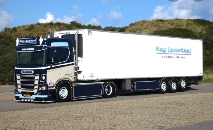 【予約】10-12月以降発売予定Lansdaal, Roy Scania Next Gen. R-serie met zamac koelopleggerトラック /Tekno 1/50 建設機械 模型ミニカー はたらく車 重機