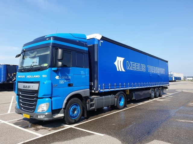 ミニチュア模型ミニカー 予約 2021年1月-3月以降発売予定Meeus Transport DAF XF 格安 Euro 3-assige Space met Super Cab schuifzeiloplegger 卓出 6