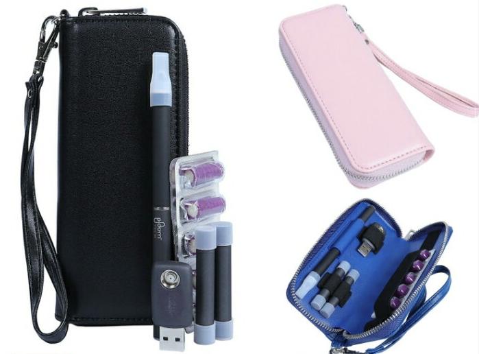 プルームテック レザーケース 専用レザーケース おしゃれ マウスピース装着したまま収納 ストラップ付き スーパーセール 新品未使用 黒 収納 ピンク 青 キャリングケース バッグ