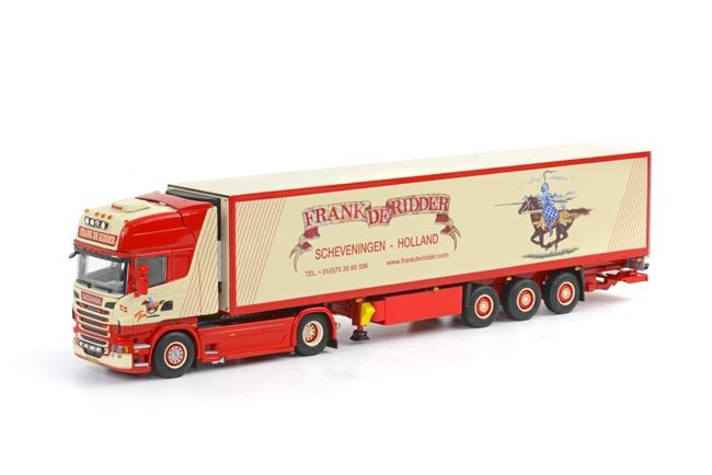 Frank de Ridder SCANIAスカニア R Topline リーファートレーラー3軸 /WSI 1/50 ダイキャスト 建設機械模型