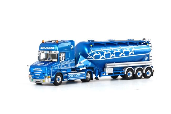 Brugger SCANIAスカニア T Topline bellied powder tanker /WSI 1/50 建設機械模型 トラック