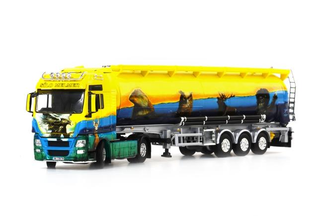 Melmer ''Bergzoo'' MAN TGX XXL Bulk Trailer Kipper 3軸 /WSI 1/50 ダイキャスト 建設機械模型