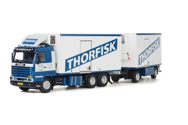 Thorfisk SCANIAスカニア R113/R143 Combi トラック トレーラー /WSI 1/50 建設機械模型 ミニカー