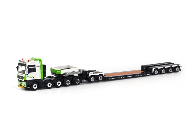 Martens en van Oord Groep B.V. MAN TGX XXL ノーテブーム 4軸 EURO-PX + 2軸 ICP トラック トレーラー /WSI 1/50 建設機械模型 ミニカー